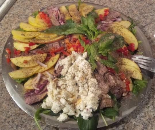 Spinach Apple Ribeye Salad
